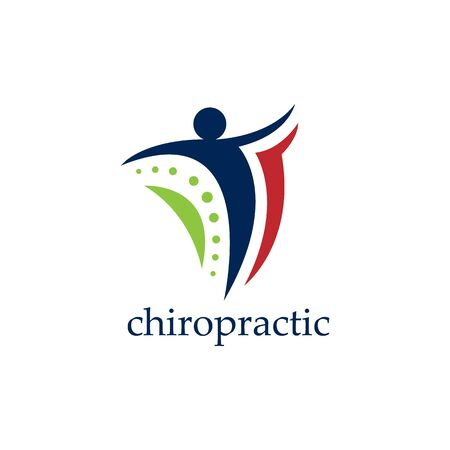 Creative medical chiropractic concept logo design vector image. Chiropractic physiotherapy concept logo design vector image Logó