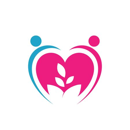 growing love together vector icon. sign of a lover Keep Love strong ever illustration