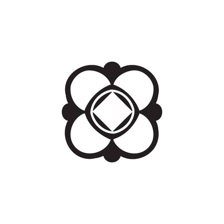 Vector cotton icon on white background Illustration