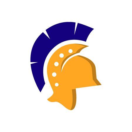 spartan icon design symbol. warrior helmet icon vector illustration Illustration