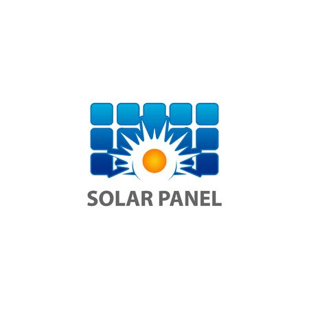 Solar panel icon isolated on white background. Solar panel icon simple sign. Solar panel icon trendy and modern symbol for graphic and web design. Solar panel icon flat vector illustration for icon Vettoriali