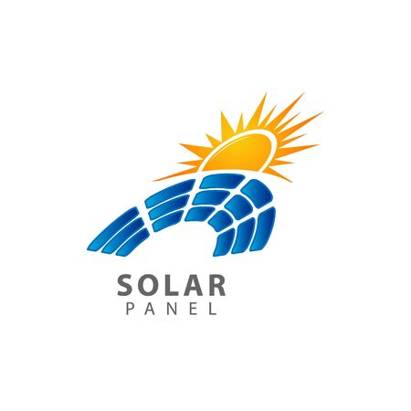 Solar panel icon isolated on white background. Solar panel icon simple sign. Solar panel icon trendy and modern symbol for graphic and web design. Solar panel icon flat vector illustration for icon