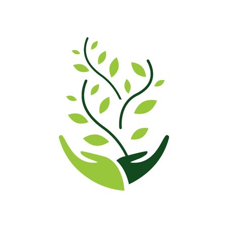 environmental sustainability icon Vector Illustration. sign of earth wildlife conservation symbol.