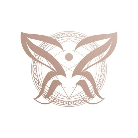 abstract chemical butterflies symbol a Beauty Butterfly icon design template Vector illustration