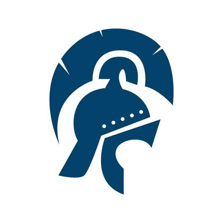 warrior helmet icon design. knight mask icon vector illustration