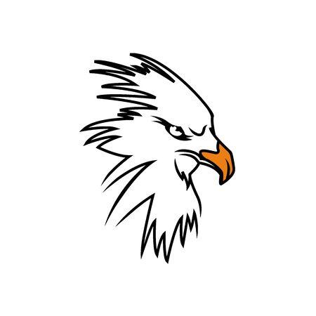 Eagle icon design vector template negative space. Creative Wild Bird Falcon Hawk icon concept icon.