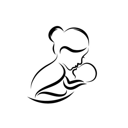 mothers love. moms and baby designs icon