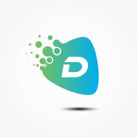 Triangle vector design with D letter symbol design minimalist. D letter for your best business symbol. Vector illustration