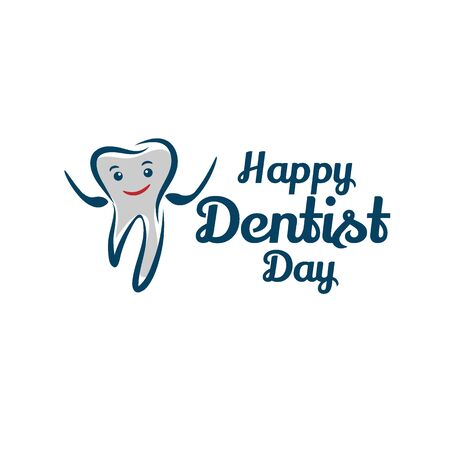 World Dentist Day Vector Design Template  イラスト・ベクター素材