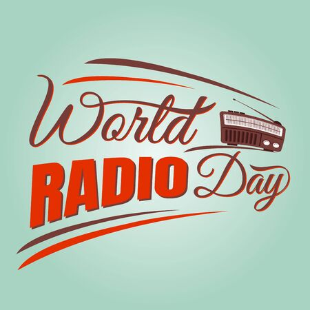 World radio day vector background with radio vector. World radio day vector element design.