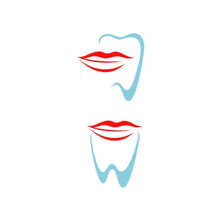 orthodontics smile design vector creative mouth and tooth template