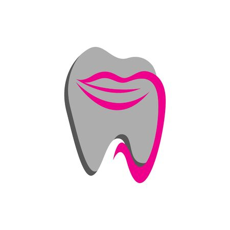 orthodontics smile logo design vector creative mouth and tooth template