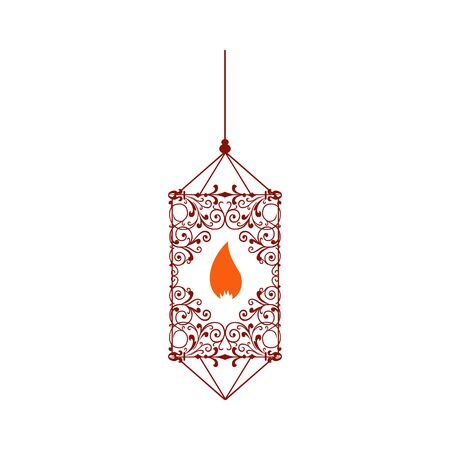 lantern logo design vector illustrations beautiful traditional ornamental lights template