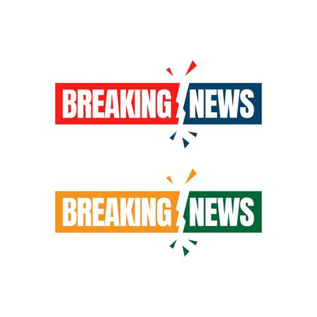 Breaking news minimalistic logo icon for News Entertaining show sign banner vector illustration