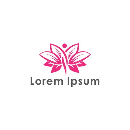 Woman's face or body in flower leaves,Logo Concept for Beauty Salons and Spa.