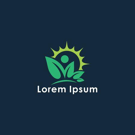 Abstract leaf logo | Vector leaf | logo design | for template.