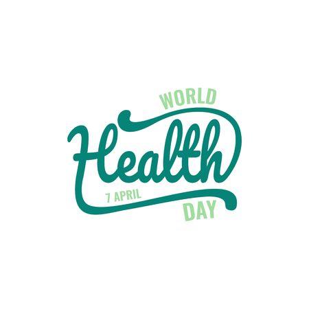 World health day vector illustration. World Health Day vector typography lettering logo design vector