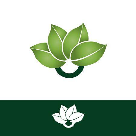 Symbol letter O with four leaf for your best business symbol. Modern letter O isolated white background. Vector illustration EPS.8 EPS.10 Imagens - 146237533