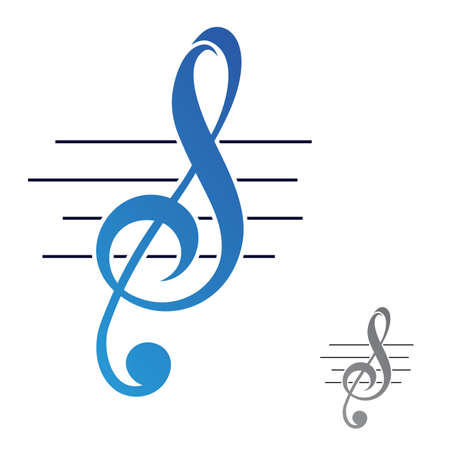 S letter shape musical notes icon isolated on white background from music collection. Musical notes icon trendy and modern musical notes symbol. Musical notes icon flat vector illustration for graphic. Vector illustration EPS.8 EPS.10 Vector Illustration