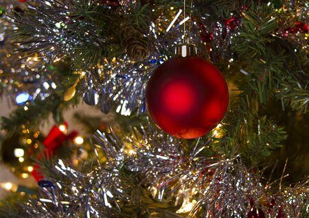 Red Glow of Christmas Banco de Imagens