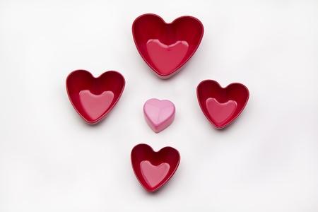 Heart Shapes under soft lights.