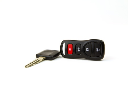 white key: Car ignition key with remote