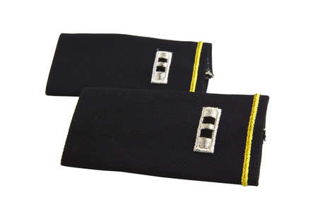 warrant: U.S. Army Chief Warrant Officer shoulder boards for Class A uniform Stock Photo