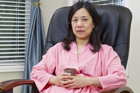 Mature woman asian girl massage