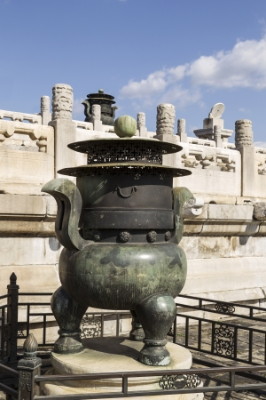 Worship objects within the Forbidden City of China