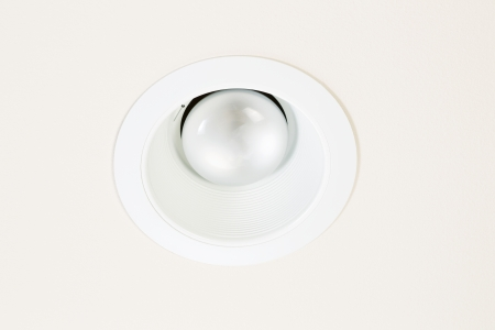 burned out: Horizontal photo of burned out flood light in recessed ceiling mount
