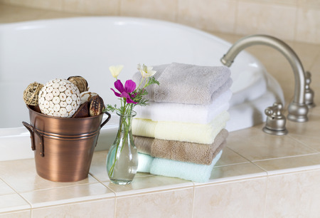 soaking: Relaxing soaking tub and spa accessories