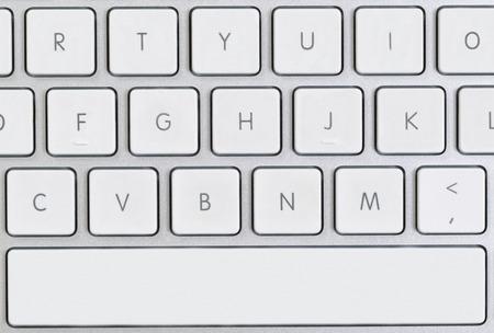 teclado de computadora: Close up of partial computer keyboard in filled frame layout.