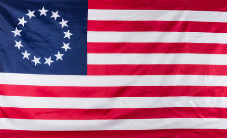 colonies: Original 13 star colony flag of United States Stock Photo