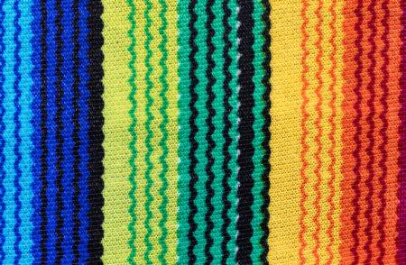 serape: Close up of colorful serape for Cinco de Mayo holiday concept.