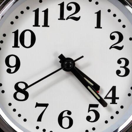 Background of close up analog clock