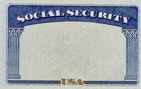 Blank United States Social Security Background