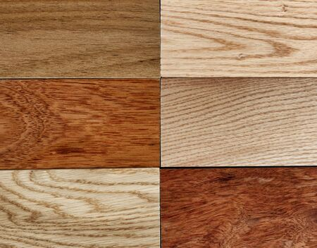 Variety of hardwood texture background in filled frame format
