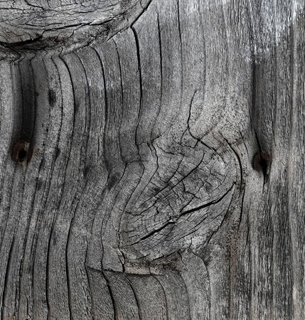 Weathered wood texture background in filled frame format Banco de Imagens