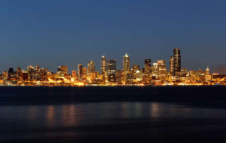 Nighttime Skyline of Seattle Washington