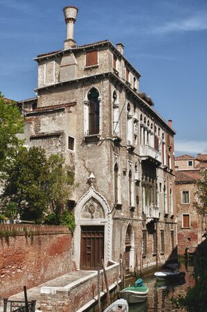 evocative: Evocative angle of Venice of ancient palaces