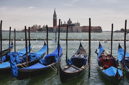 Berthed gondolas. photo