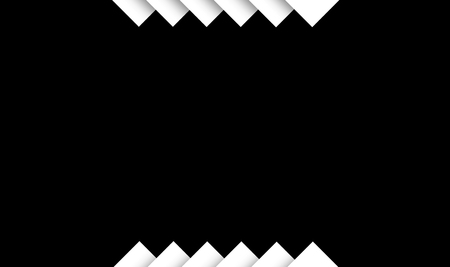 zero gravity: centered frame created by overlaping shapes in black background