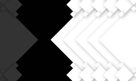 design template showing abstract mirror effect of white shapes rotated spiked squares shapes position at equal distance with 10% of opacity down in the mirror effect