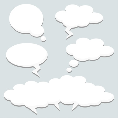 Řeč myslel bubliny, mraky, ilustrace