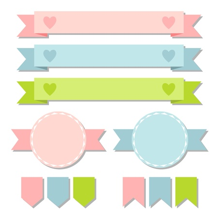 Set of retro ribbons and labels  illustration Stock Vector - 18710922