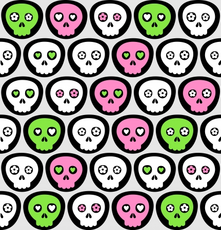 Vector scull pattern background Stock Vector - 18711040