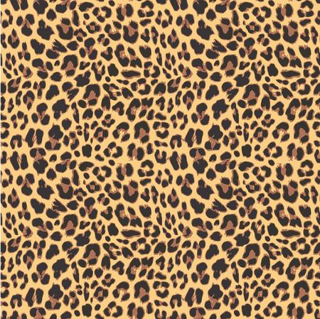 Leopard bezešvé vzor design, vektorové ilustrace pozadí Ilustrace