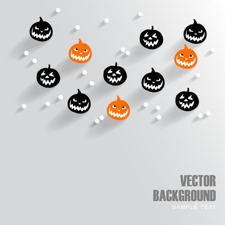 Modern background with halloween pumpkins, vector ilustration Illustration