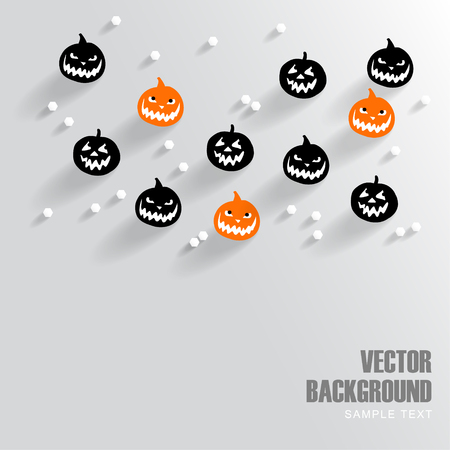 samhain: Modern background with halloween pumpkins, vector ilustration Illustration