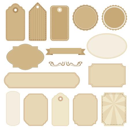 Set unbelegte Vintage-Rahmen Standard-Bild - 32620058